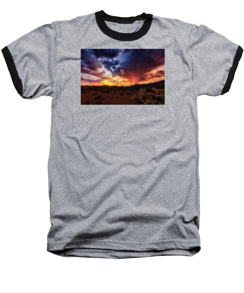 Stormy Twilight Baseball T-Shirt by Rick Furmanek