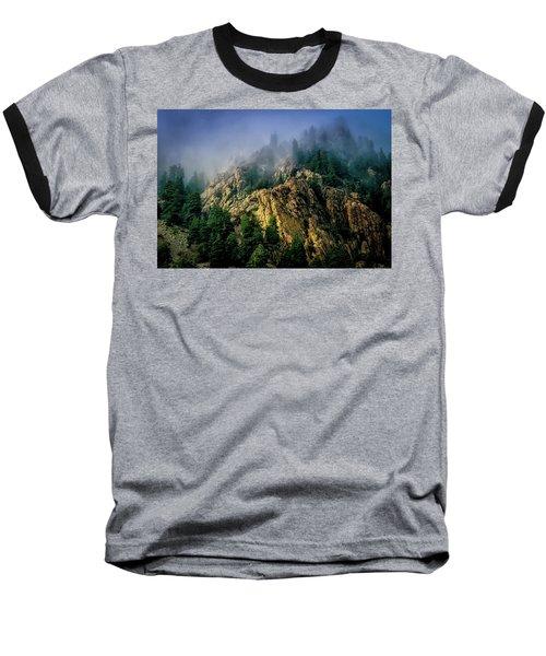 Stormy Wasatch- Fog Baseball T-Shirt