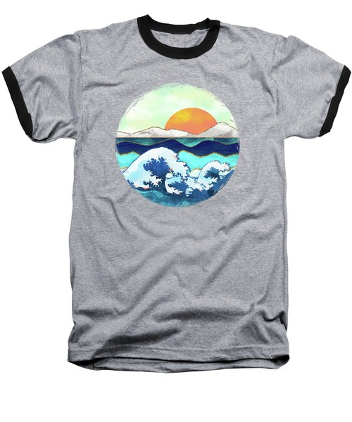 Stormy Waters Baseball T-Shirt by Spacefrog Designs