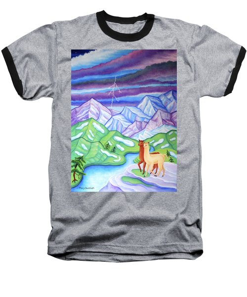 Stormy Weather Baseball T-Shirt by Tracy Dennison