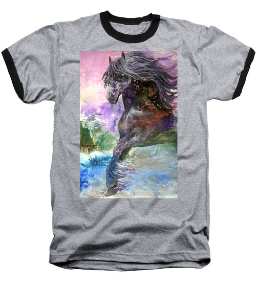 Stormy Wind Horse Baseball T-Shirt