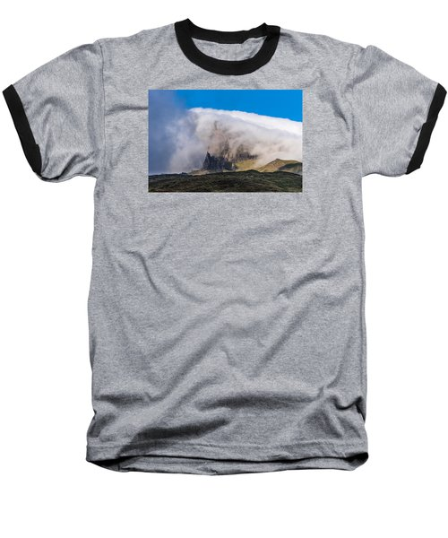 Baseball T-Shirt featuring the photograph Storr In Cloud by Gary Eason