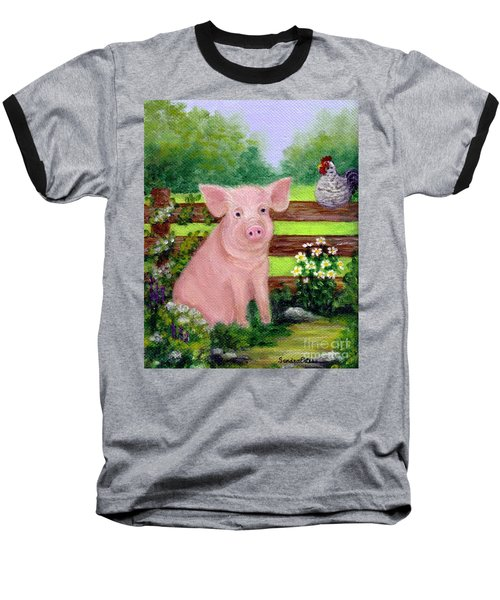 Storybook Pig Baseball T-Shirt