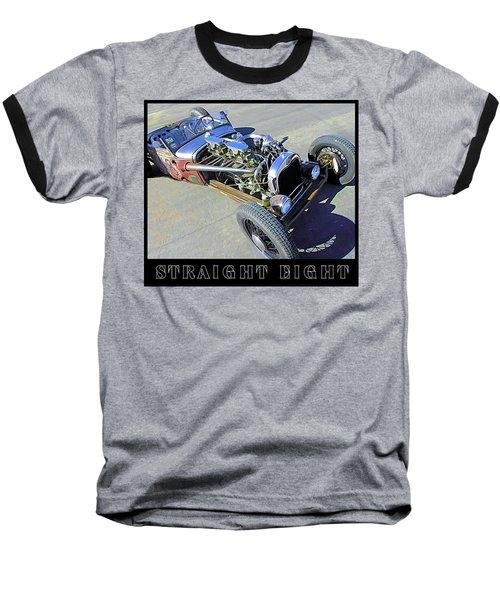 Straight Eight Title Baseball T-Shirt