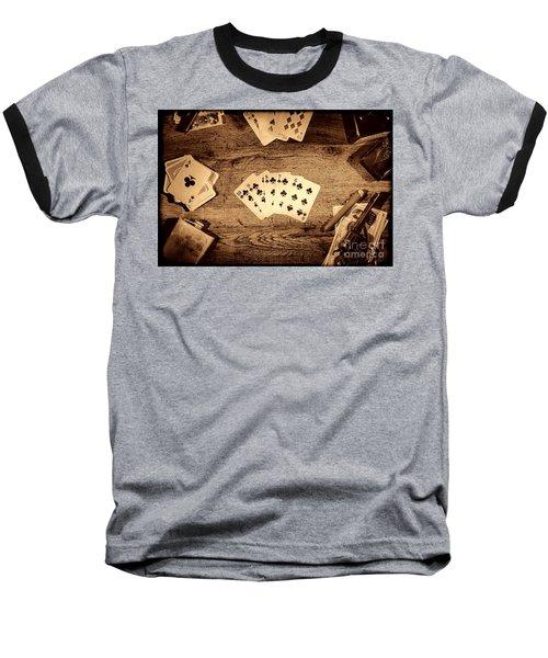 Straight Flush Baseball T-Shirt