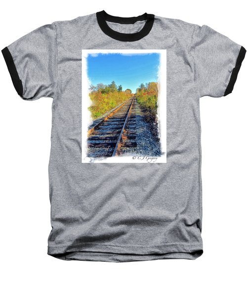Baseball T-Shirt featuring the photograph Straight Track by Constantine Gregory