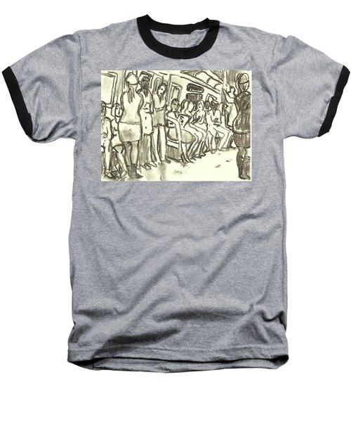 Strap Hangers, Nyc Subway Baseball T-Shirt