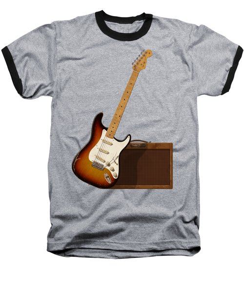 Strat And Tweed Amp Baseball T-Shirt by WB Johnston