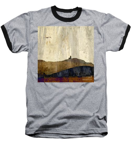 Strata With Lighthouse And Gull Baseball T-Shirt