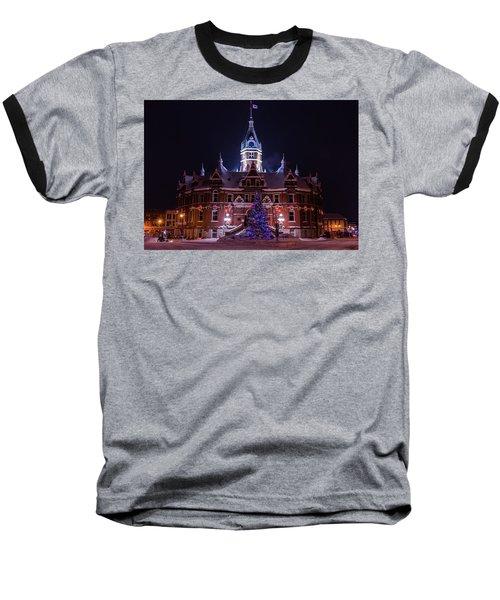 Stratford City Hall Christmas Baseball T-Shirt