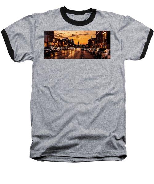 Stratford Main Drag At Dusk Baseball T-Shirt