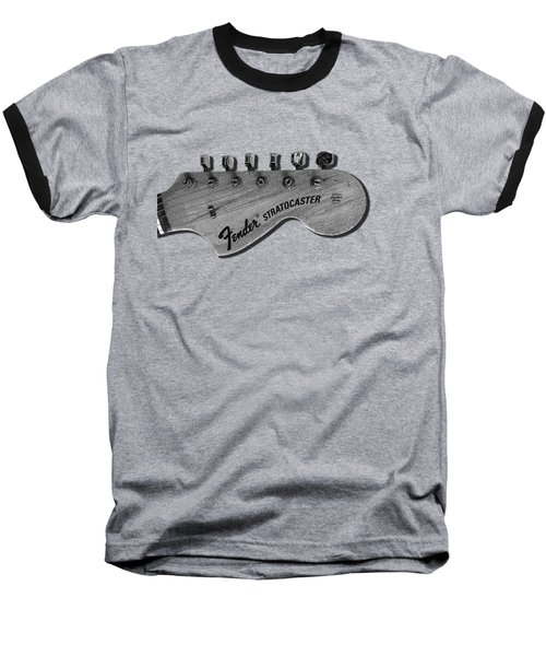 Stratocaster Head Baseball T-Shirt by Mark Rogan
