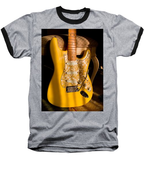 Stratocaster Plus In Graffiti Yellow Baseball T-Shirt