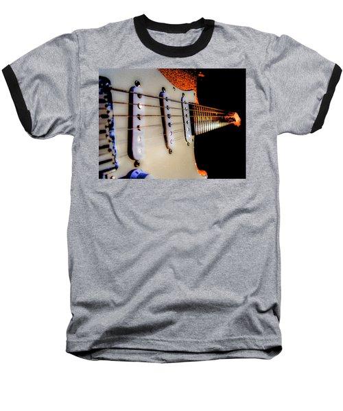 Stratocaster Pop Art Tangerine Sparkle Fire Neck Series Baseball T-Shirt