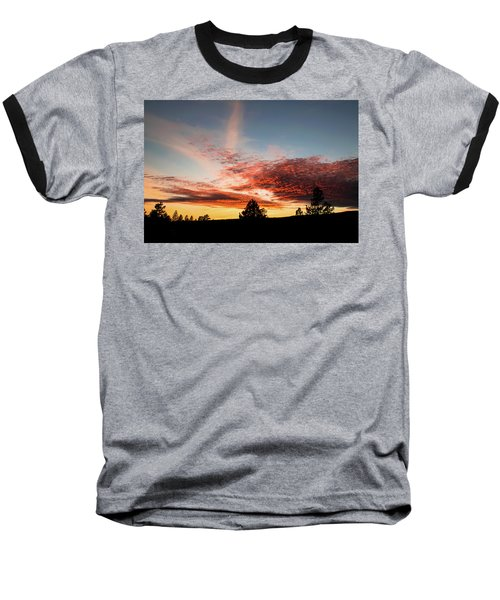 Stratocumulus Sunset Baseball T-Shirt by Jason Coward