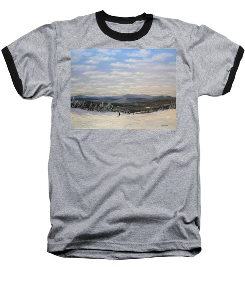Stratton Skiing Baseball T-Shirt by Ken Ahlering