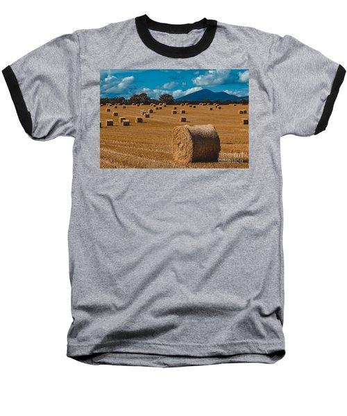 Straw Bale In A Field Baseball T-Shirt