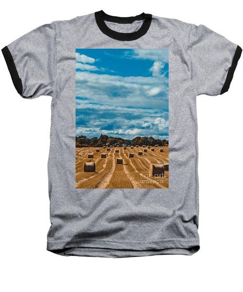 Straw Bales In A Field 2 Baseball T-Shirt