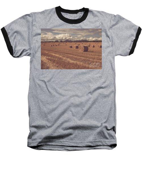 Straw Bales In A Field 4 Baseball T-Shirt