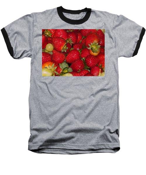 Strawberries 731 Baseball T-Shirt by Michael Fryd