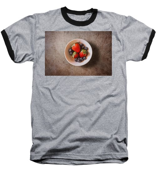 Strawberries And Blueberries Baseball T-Shirt by Scott Norris