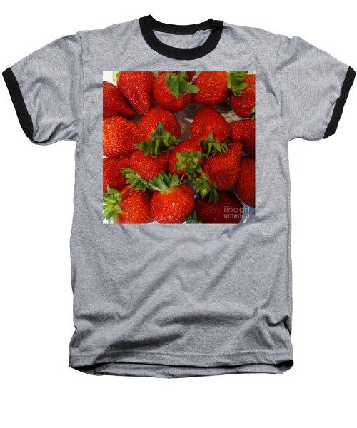 Strawberries Baseball T-Shirt