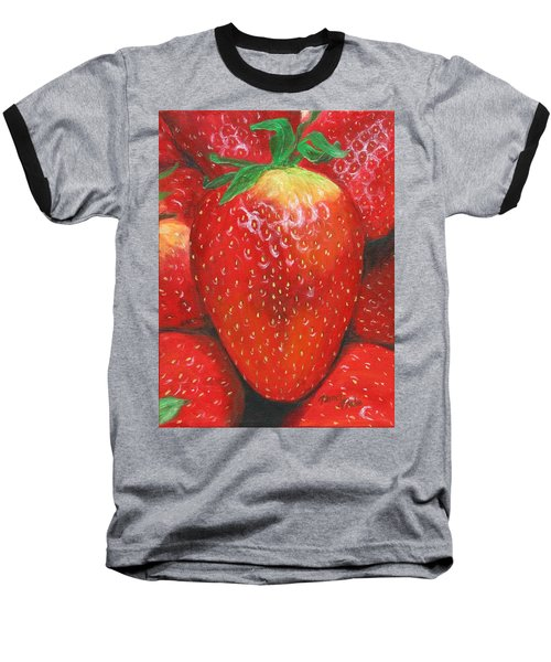 Baseball T-Shirt featuring the painting Strawberries by Nancy Nale