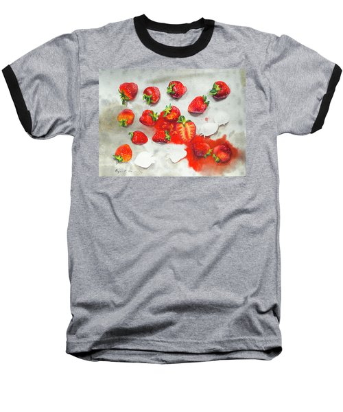 Strawberries On Paper Towel Baseball T-Shirt