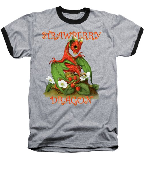 Strawberry Dragon Baseball T-Shirt