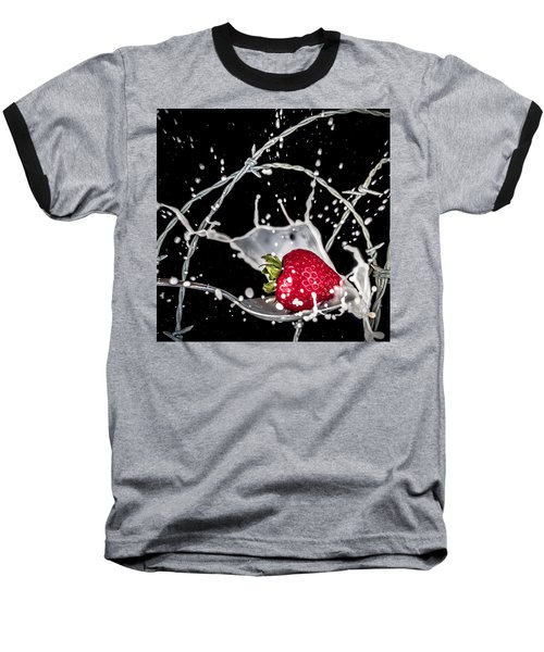 Strawberry Extreme Sports Baseball T-Shirt by TC Morgan