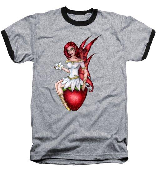 Strawberry Fairy Drawing Baseball T-Shirt