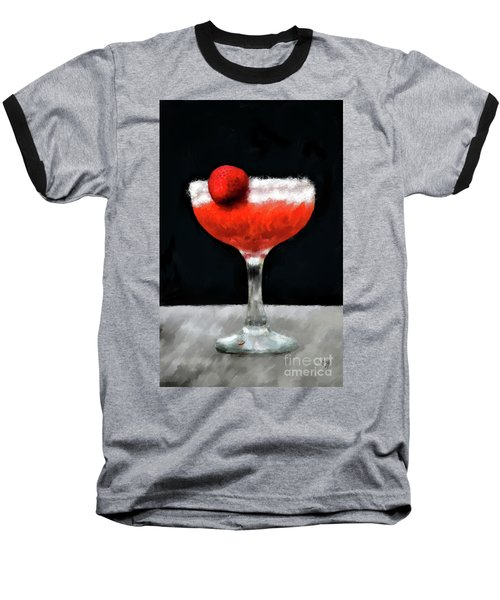 Baseball T-Shirt featuring the photograph Strawberry Margarita by Lois Bryan