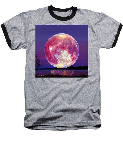 Strawberry Solstice Moon Baseball T-Shirt