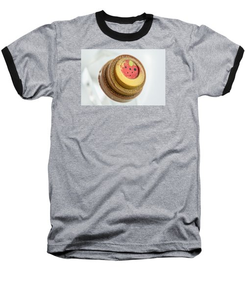 Strawberry Strawberry Baseball T-Shirt by Sabine Edrissi