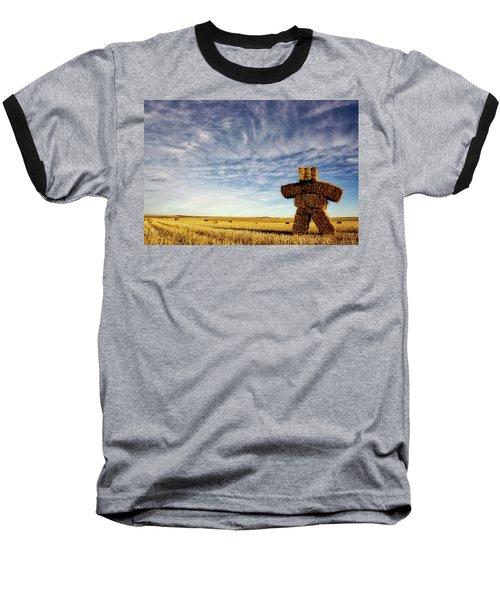Strawman On The Prairies Baseball T-Shirt