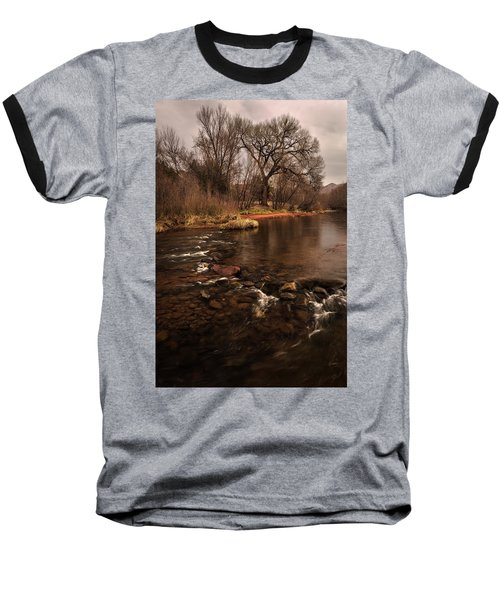 Stream And Tree Baseball T-Shirt