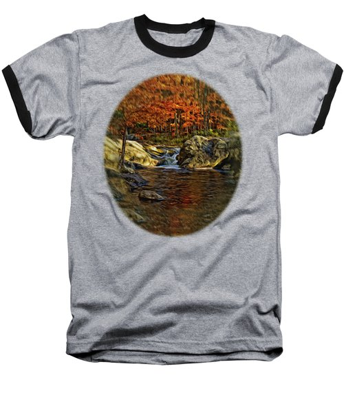 Stream In Autumn 57 In Oil Baseball T-Shirt by Mark Myhaver