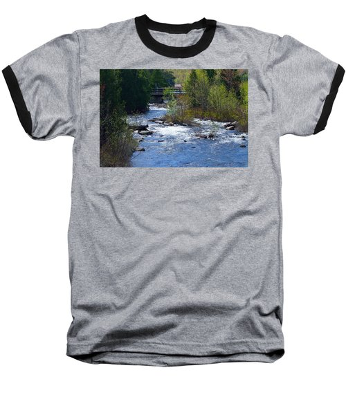 Stream In Spring Baseball T-Shirt by David Porteus