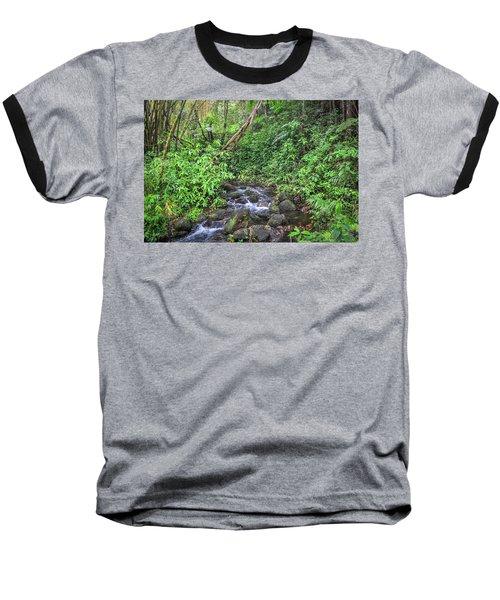 Stream In The Rainforest Baseball T-Shirt