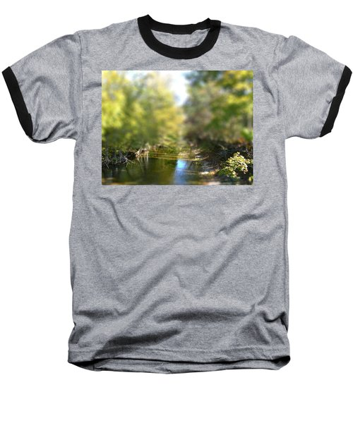 Stream Reflections Baseball T-Shirt by EricaMaxine  Price