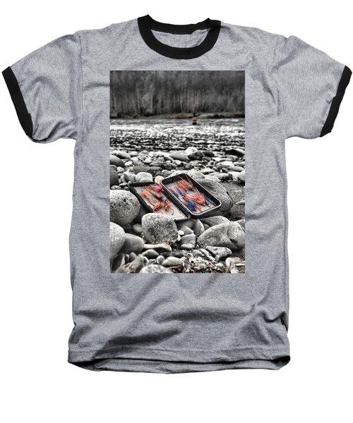 Stream Side Fly Box Baseball T-Shirt
