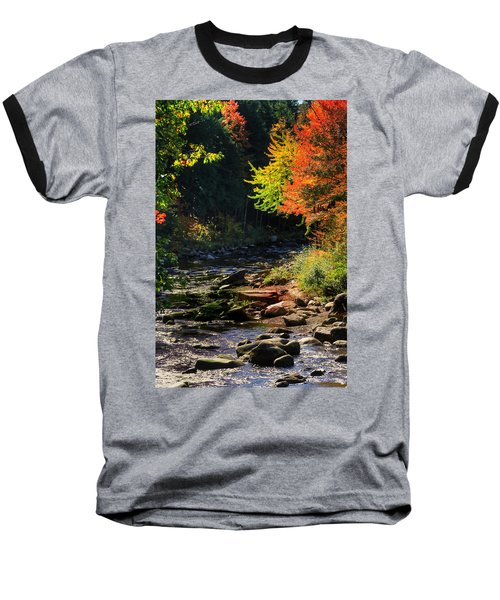 Baseball T-Shirt featuring the photograph Stream by Tom Prendergast