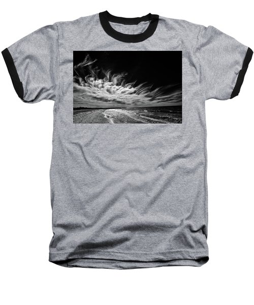 Streaming Clouds Baseball T-Shirt by Kevin Cable