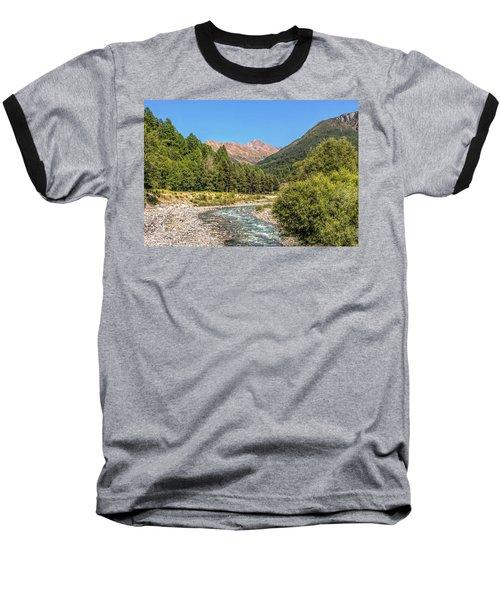 Streaming Through The Alps Baseball T-Shirt