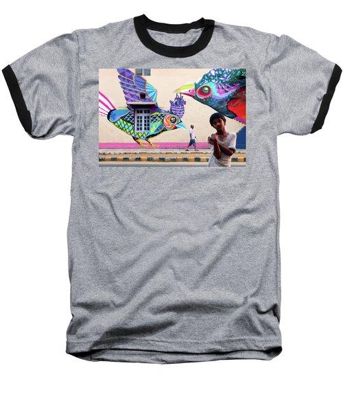 Street Art Baseball T-Shirt