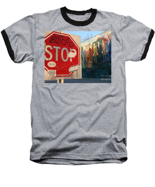 Street Art Washington D.c.  Baseball T-Shirt by Clay Cofer