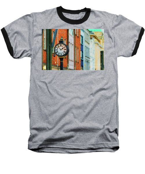 Street Clock In Cork Baseball T-Shirt