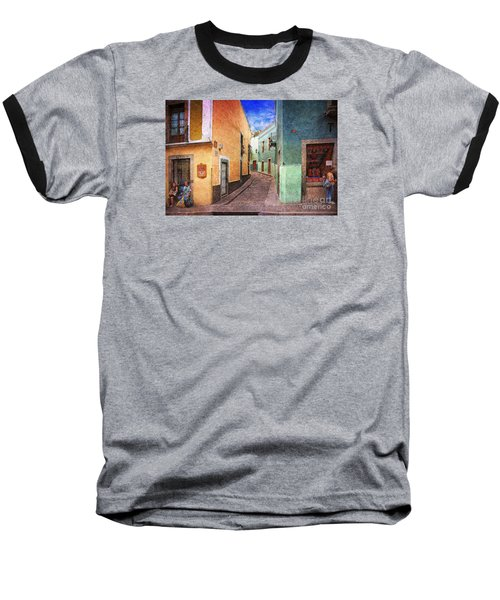 Baseball T-Shirt featuring the photograph Street In Guanajuato by John  Kolenberg