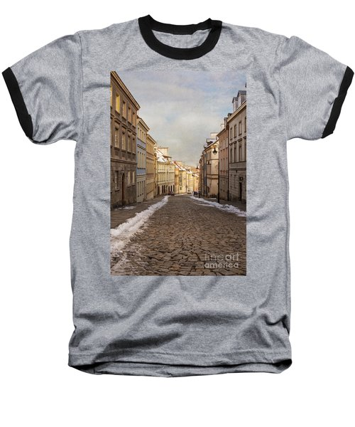 Baseball T-Shirt featuring the photograph Street In Warsaw, Poland by Juli Scalzi