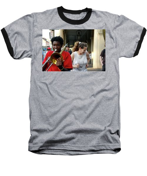 Baseball T-Shirt featuring the photograph Street Jazz by KG Thienemann